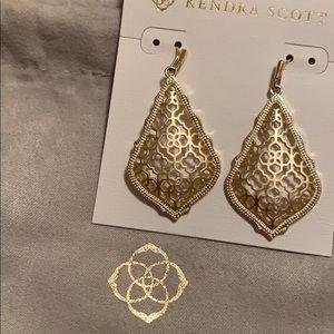 Kendra Scott Gold Tone Filigree Earrings
